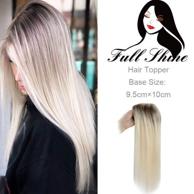 Full Shine Long Straight Human Hair Topper