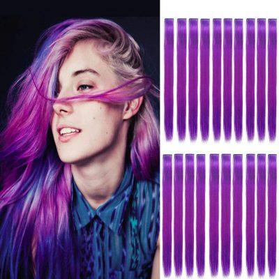 36 Piece Rainbow Hair Extension