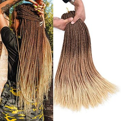AliRobam Ombre Kanekalon Synthetic Box Braids Hair Extensions