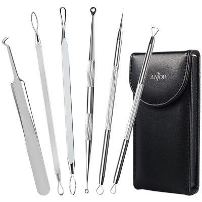 Anjou Blackhead Remover Curved Blackhead Tweezers Kit