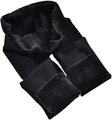 CHRLEISURE Winter Warm Fleece-Lined Leggings