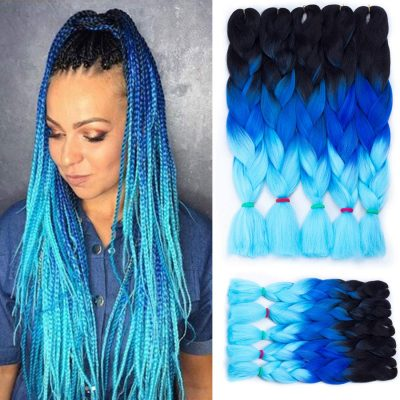 Liyate Jumbo Ombre Kanekalon Synthetic Box Braids Hair Extensions