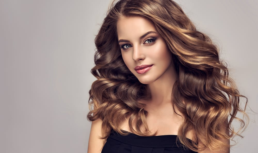 A beautiful woman with wavy hair