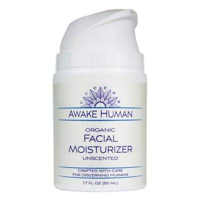 Awake Human Organic Facial Moisturizer, Unscented