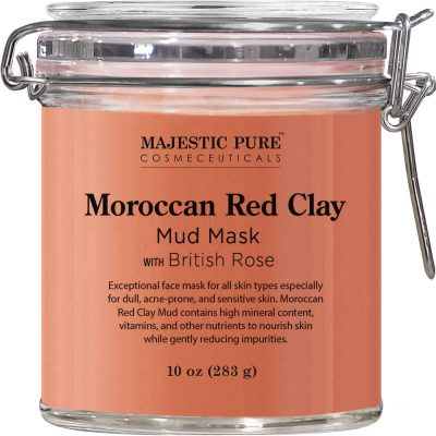 MAJESTIC PURE Moroccan Red Clay Facial Mud Mask