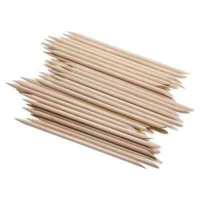 Mini Skater Orange Wood Nail Sticks