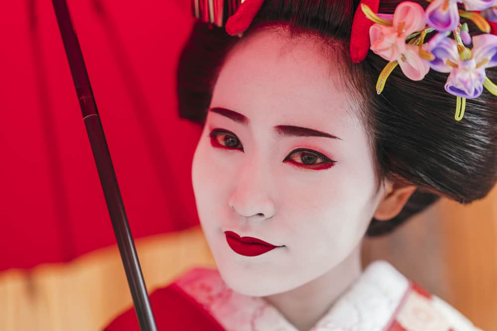 Portrait of a Maiko geisha