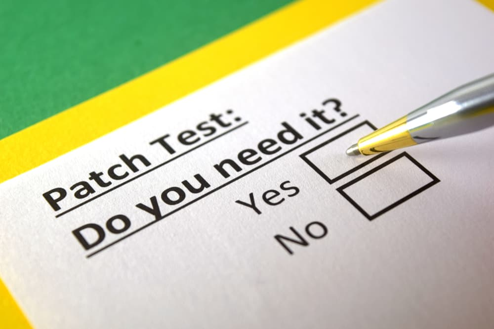 close up survey paper about patch testing