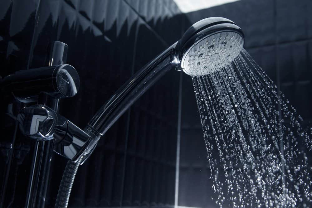 running water coming out of shower head
