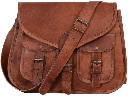 KPL Crossbody Leather Satchel