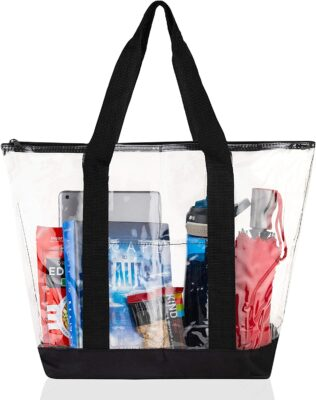 Bags for Less Large Clear Vinyl Tote Bag