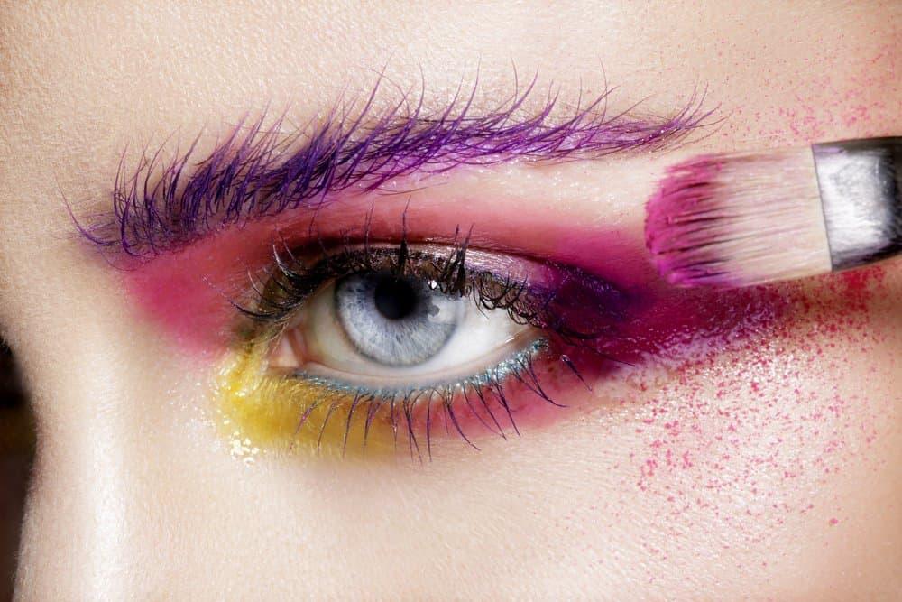 split-complementary eye makeup