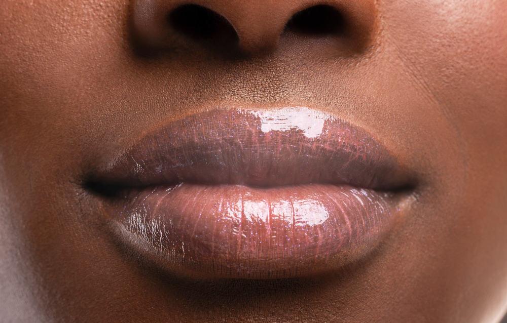 lip closeup with light balm tint