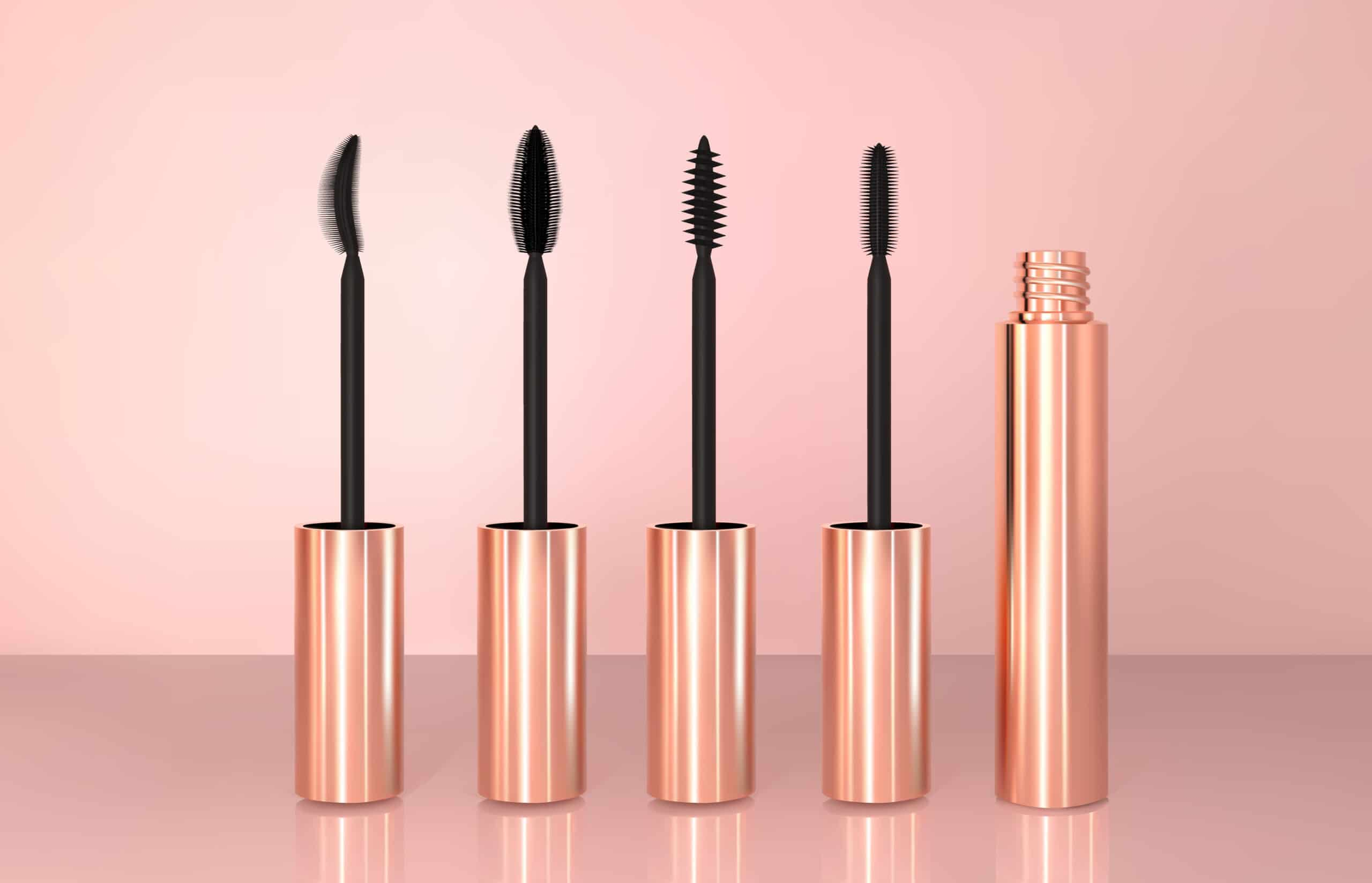lineup of mascara wands and tube