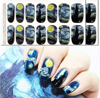 BlueZOO Store Van Gogh's Starry Night Full Nail Stickers