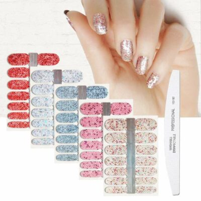 BornBeauty Glitter Nail Polish Decal Strips