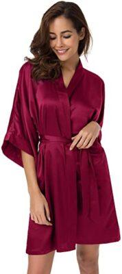 SIORO Women's Satin Kimono Robe