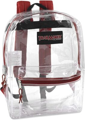 Trailmaker Clear Backpack with Reinforced Straps