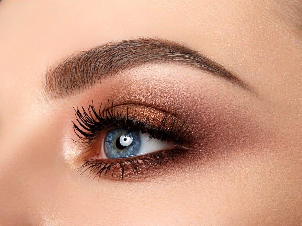 copper eyeshadow for blue eyes