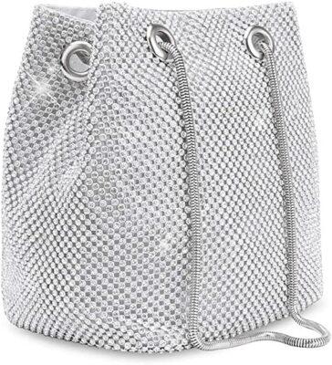 Desy & Feeci Rhinestones Bucket Bag
