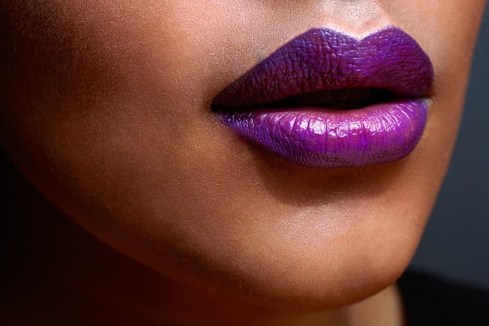 glossy ombre lips