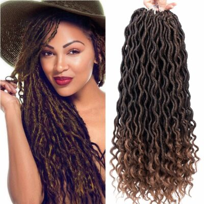 Karida Curly Faux Locs Crochet Hair