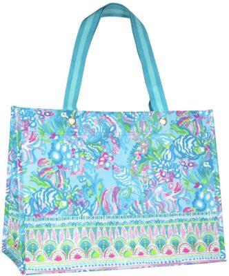 Lilly Pulitzer Aqua La Vista Shopper Bag