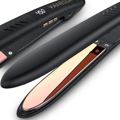 Vanessa Dual Voltage Titanium Flat Iron