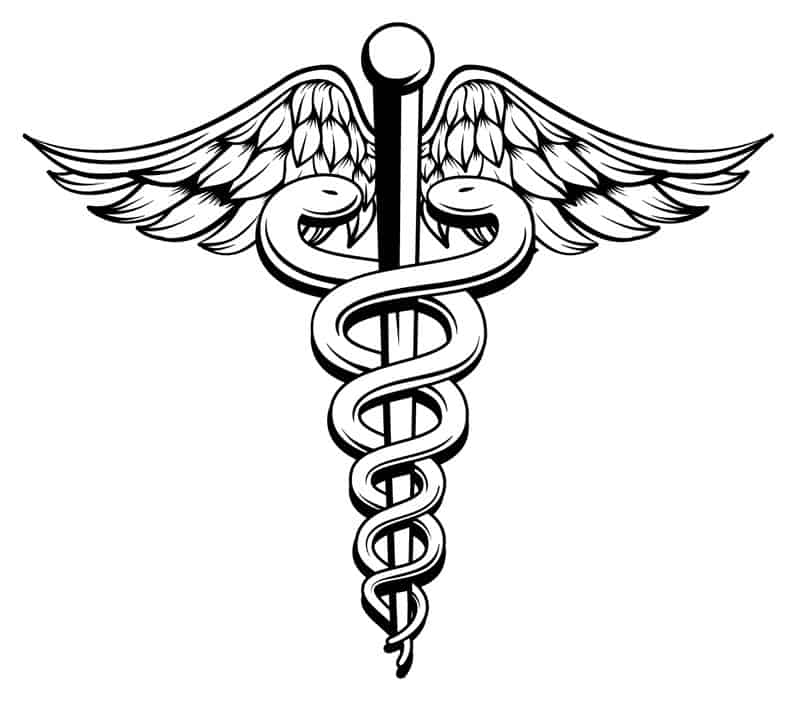 snake symbol for medicine and the sciences