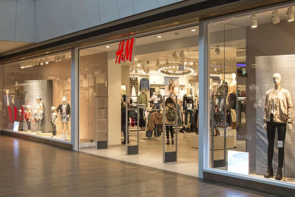 H&M storefront in a mall