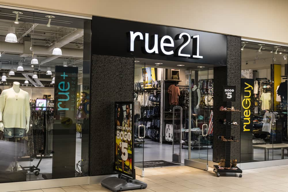 Rue21 store in mall