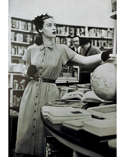 Vintage photo of a woman in a shirtdress