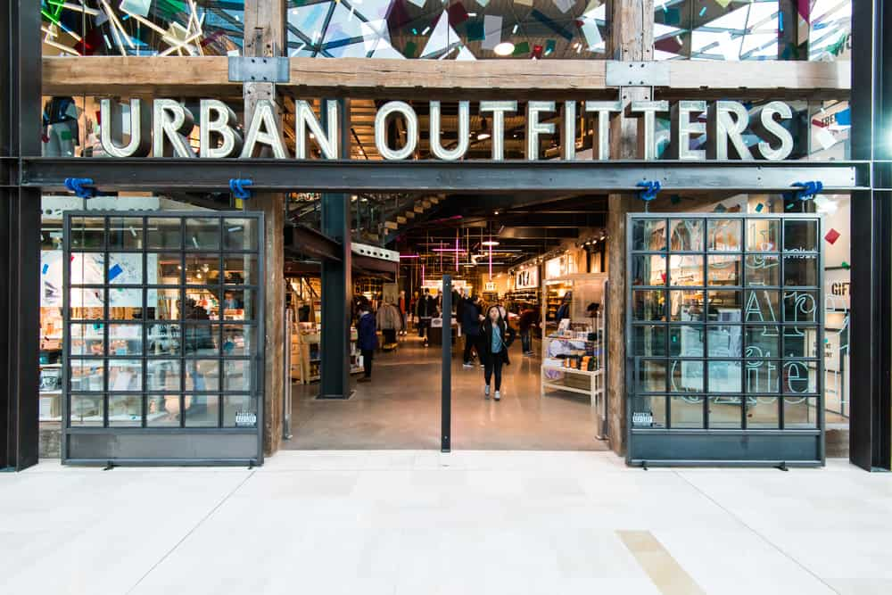 exterior of an Urban Outfitters store
