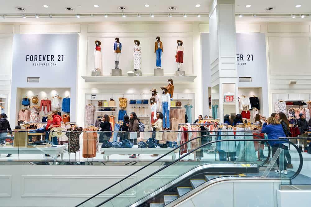 inside Forever 21 store
