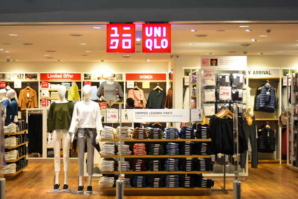 inside a Uniqlo store