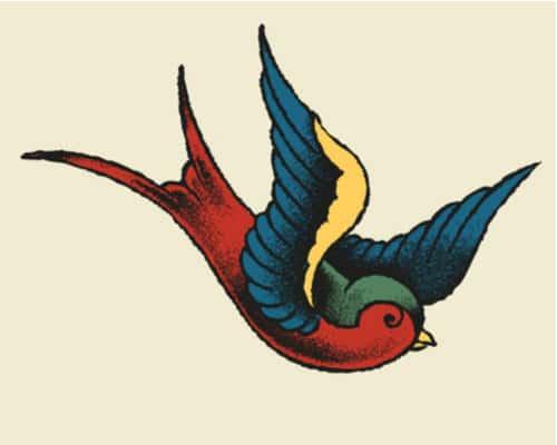 old-school swallow tattoo
