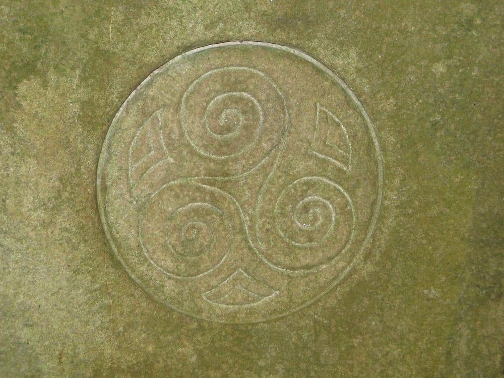 stone celtic spiral