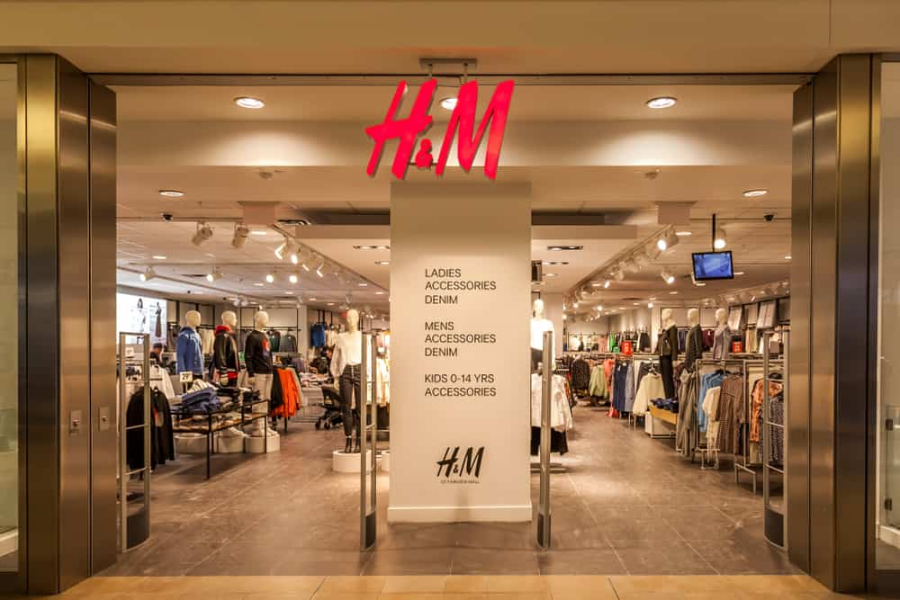 view of H&M in a mall