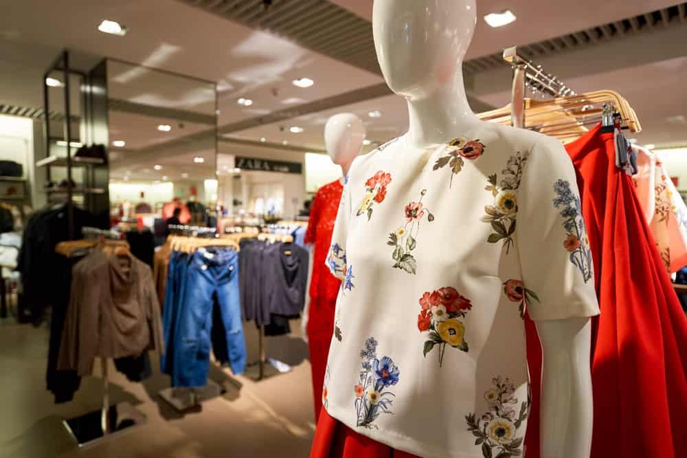 inside a Zara store