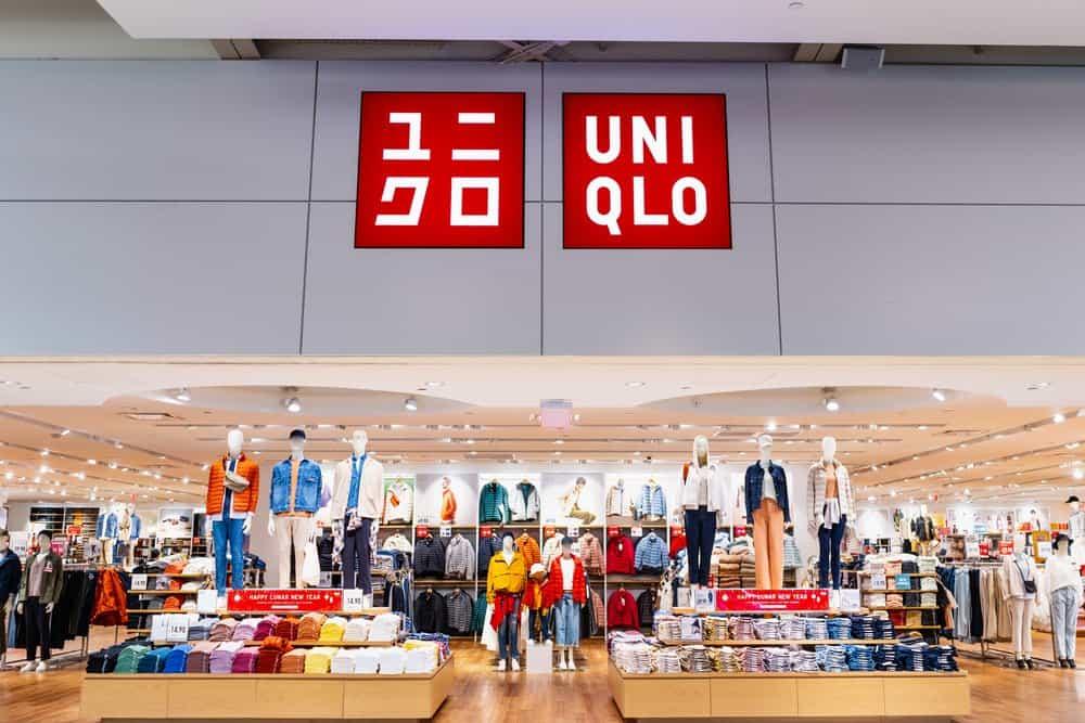uniqlo storefront mannequins clothes