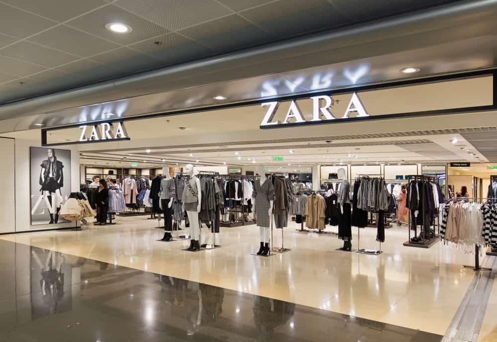 zara clothing store mall