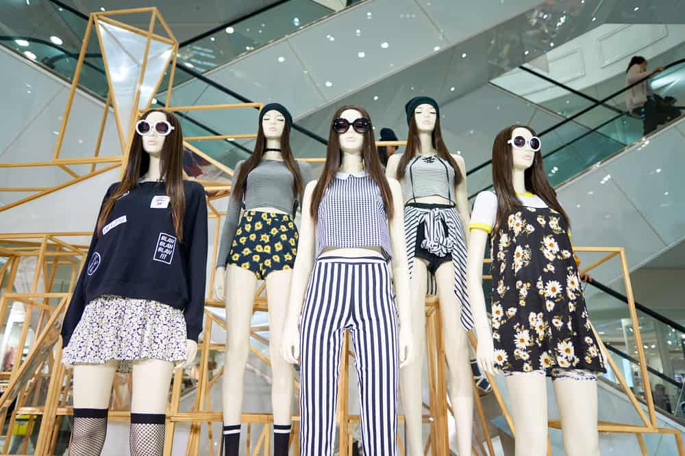 Forever 21 store mannequins