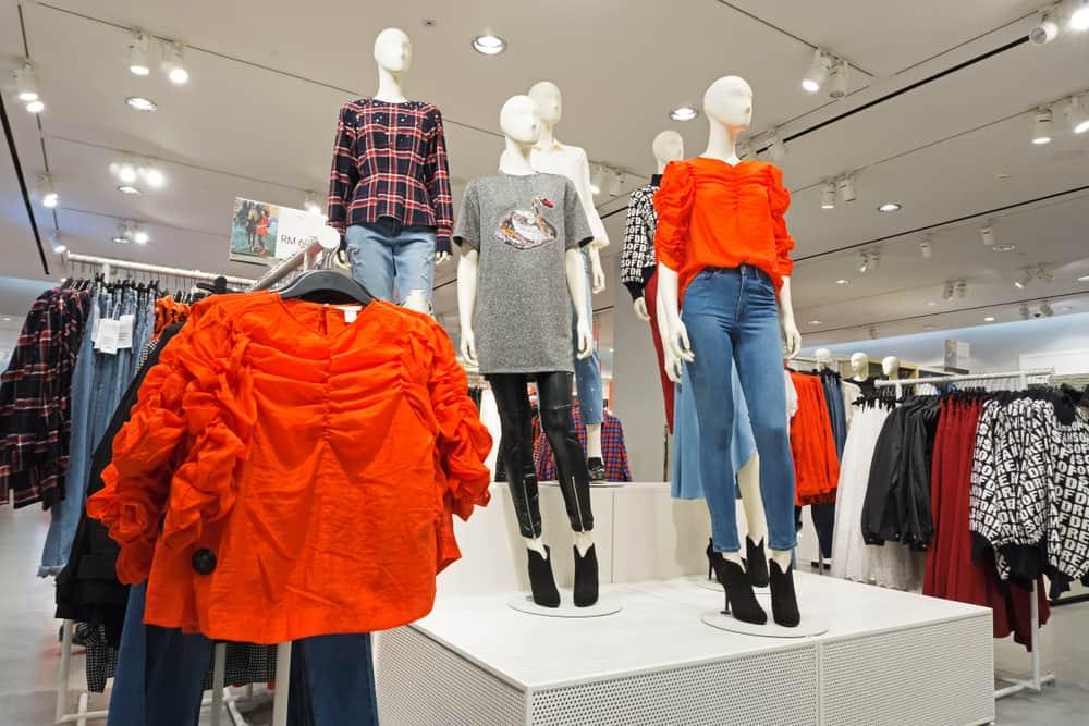 H&M store mannequins fashion