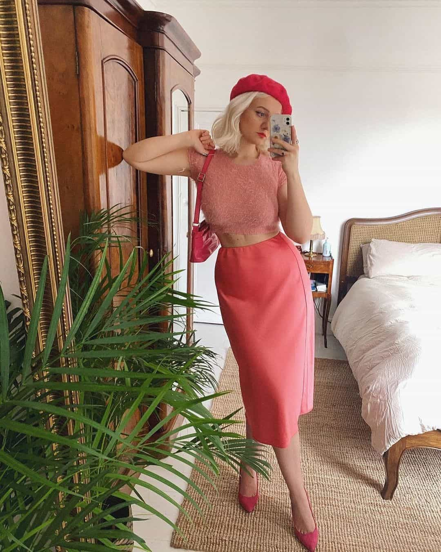 Miss Selfridge Instagram pink outfit model