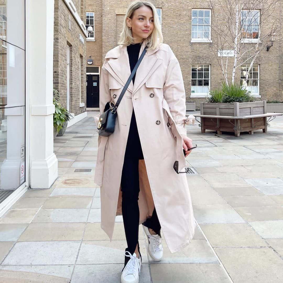River Island Instagram model trench coat
