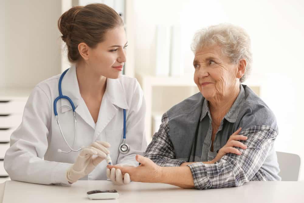 doctor diabetic blood sugar level test