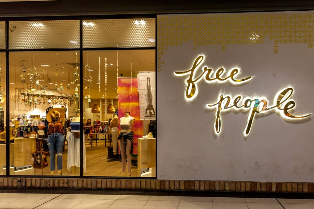 free people storefront mannequins