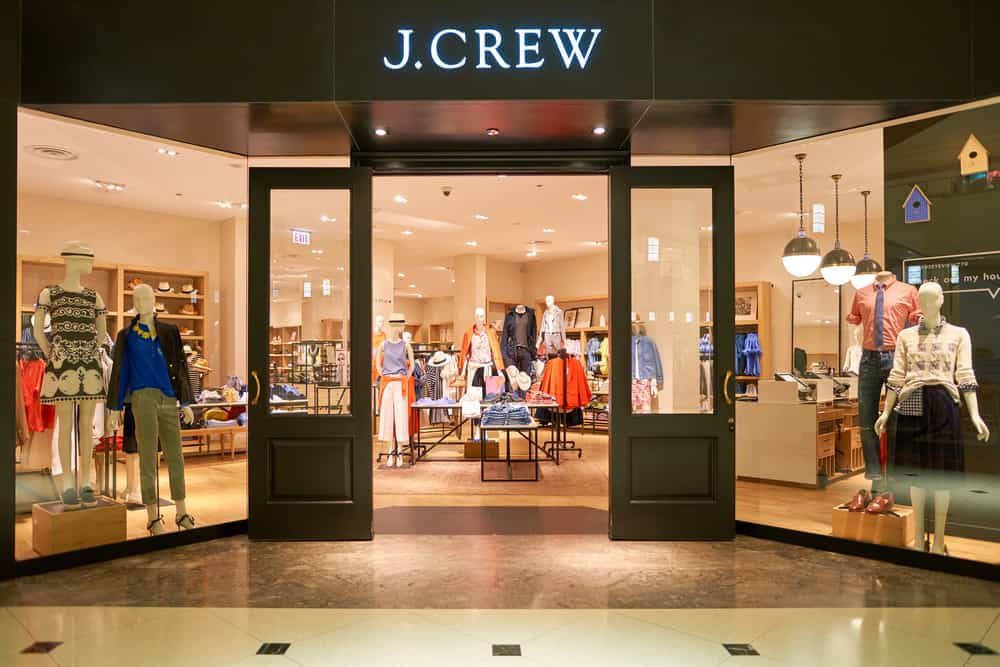j crew storefront shopping mall