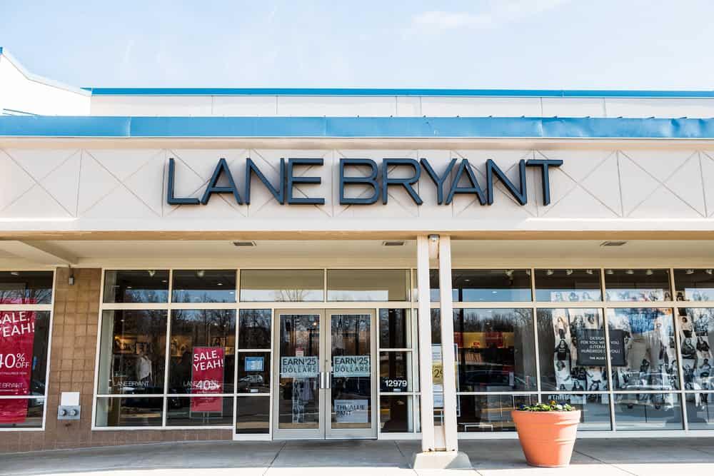 lane bryant storefront sale