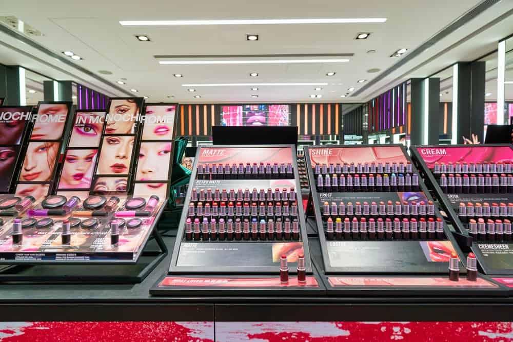 large cosmetics store